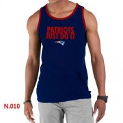 Wholesale Cheap Men's Nike NFL New England Patriots Sideline Legend Authentic Logo Tank Top Dark Blue_1