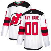 Wholesale Cheap Men's Adidas Devils Personalized Authentic White Road NHL Jersey