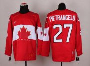 Wholesale Cheap Olympic 2014 CA. #27 Alex Pietrangelo Red Stitched NHL Jersey