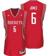 Wholesale Cheap Houston Rockets #6 Terrence Jones Red Swingman Jersey