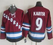 Wholesale Cheap Avalanche #9 Paul Kariya Red CCM Throwback Stitched NHL Jersey