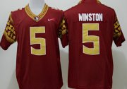 Wholesale Cheap Florida State Seminoles #5 Jameis Winston 2014 Red Limited Jersey