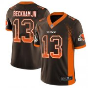 Wholesale Cheap Nike Browns #13 Odell Beckham Jr Brown Team Color Men's Stitched NFL Limited Rush Drift Fashion Jersey