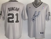 Wholesale Cheap San Antonio Spurs #21 Tim Duncan Revolution 30 Swingman 2013 Christmas Day Gray Jersey