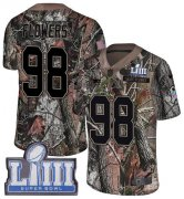 Wholesale Cheap Nike Patriots #98 Trey Flowers Camo Super Bowl LIII Bound Youth Stitched NFL Limited Rush Realtree Jersey
