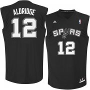 Wholesale Cheap San Antonio Spurs 12 LaMarcus Aldridge Black Fashion Replica Jersey