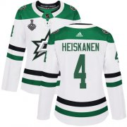 Cheap Adidas Stars #4 Miro Heiskanen White Road Authentic Women's 2020 Stanley Cup Final Stitched NHL Jersey
