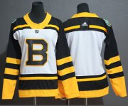 Wholesale Cheap Adidas Bruins Blank White Authentic 2019 Winter Classic Women's Stitched NHL Jersey