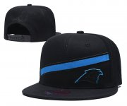 Wholesale Cheap Panthers Team Logo Black Adjustable Hat LT