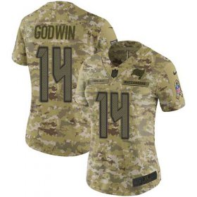 Wholesale Cheap Nike Buccaneers #14 Chris Godwin Camo Women\'s Stitched NFL Limited 2018 Salute To Service Jersey