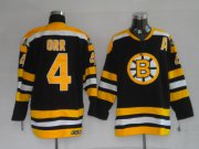 Wholesale Cheap Bruins #4 Bobby Orr CCM Black Embroidered Youth NHL Jersey