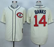 Wholesale Cheap Cubs #14 Ernie Banks Cream 1929 Turn Back The Clock Stitched MLB Jersey