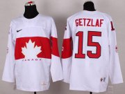 Wholesale Cheap Olympic 2014 CA. #15 Ryan Getzlaf White Stitched NHL Jersey