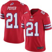 Wholesale Cheap Nike Bills #21 Jordan Poyer Red Youth Stitched NFL Limited Rush Jersey