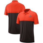 Wholesale Cheap Cleveland Browns Nike Sideline Early Season Performance Polo Orange Brown