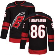 Wholesale Cheap Adidas Hurricanes #86 Teuvo Teravainen Black Alternate Authentic Stitched Youth NHL Jersey