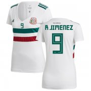 Wholesale Cheap Women's Mexico #9 R.Jimenez Away Soccer Country Jersey