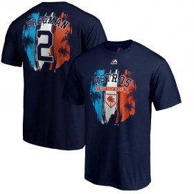 Wholesale Cheap Houston Astros #2 Alex Bregman Majestic 2019 Spring Training Big & Tall Name & Number T-Shirt Navy