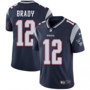 Wholesale Cheap Nike Patriots #12 Tom Brady Navy Blue Team Color Men's Stitched NFL Vapor Untouchable Limited Jersey