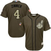 Wholesale Cheap Indians #4 Bradley Zimmer Green Salute to Service Stitched MLB Jersey