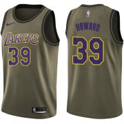Wholesale Cheap Nike Lakers #39 Dwight Howard Green NBA Swingman Salute to Service Jersey