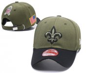 Wholesale Cheap NFL New Orleans Saints Team Logo Olive Peaked Adjustable Hat R56