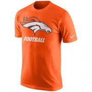 Wholesale Cheap Denver Broncos Nike Facility T-Shirt Orange