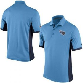 Wholesale Cheap Men\'s Nike NFL Tennessee Titans Light Blue Team Issue Performance Polo