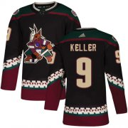 Wholesale Cheap Adidas Coyotes #9 Clayton Keller Black Alternate Authentic Stitched Youth NHL Jersey