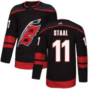 Wholesale Cheap Adidas Hurricanes #11 Jordan Staal Black Alternate Authentic Stitched Youth NHL Jersey