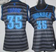 Wholesale Cheap Oklahoma City Thunder #35 Kevin Durant Gray With Black Pinstripe Womens Jersey