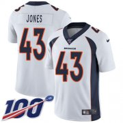 Wholesale Cheap Nike Broncos #43 Joe Jones White Youth Stitched NFL 100th Season Vapor Untouchable Limited Jersey