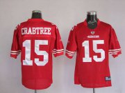 Wholesale Cheap 49ers Michael Crabtree #15 Stitched Red NFL Jersey