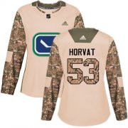 Wholesale Cheap Adidas Canucks #53 Bo Horvat Camo Authentic 2017 Veterans Day Women's Stitched NHL Jersey