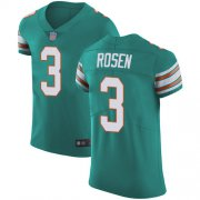 Wholesale Cheap Nike Dolphins #3 Josh Rosen Aqua Green Alternate Men's Stitched NFL Vapor Untouchable Elite Jersey