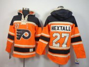 Wholesale Cheap Flyers #27 Ron Hextall Orange Sawyer Hooded Sweatshirt Stitched NHL Jersey