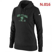 Wholesale Cheap Women's Nike New York Jets Heart & Soul Pullover Hoodie Black