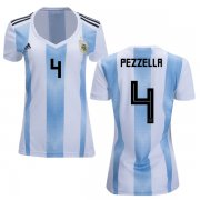 Wholesale Cheap Women's Argentina #4 Pezzella Home Soccer Country Jersey