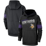 Wholesale Cheap Minnesota Vikings Nike Sideline Team Logo Performance Pullover Hoodie Black