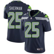 Wholesale Cheap Nike Seahawks #25 Richard Sherman Steel Blue Team Color Men's Stitched NFL Vapor Untouchable Limited Jersey