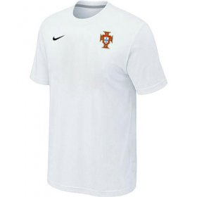 Wholesale Cheap Nike Portugal 2014 World Small Logo Soccer T-Shirt White