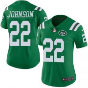 Wholesale Cheap Nike Jets #22 Trumaine Johnson Green Women's Stitched NFL Limited Rush Jersey