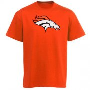 Wholesale Cheap Denver Broncos Youth Team Logo T-Shirt Orange