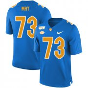 Wholesale Cheap Pittsburgh Panthers 73 Mark May Blue 150th Anniversary Patch Nike College Football Jersey