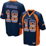 Wholesale Cheap Nike Broncos #18 Peyton Manning Navy Blue Alternate Men's Stitched NFL Limited Strobe Jersey
