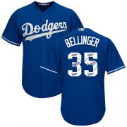 Wholesale Cheap Dodgers #35 Cody Bellinger Blue Team Logo Fashion Stitched MLB Jersey
