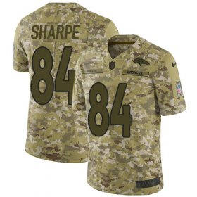 Wholesale Cheap Nike Broncos #84 Shannon Sharpe Camo Youth Stitched NFL Limited 2018 Salute to Service Jersey