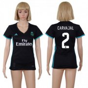 Wholesale Cheap Women's Real Madrid #2 Carvajal Away Soccer Club Jersey