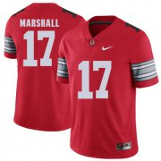 Wholesale Cheap Ohio State Buckeyes 17 Jalin Marshall Red 2018 Spring Game College Football Limited Jersey