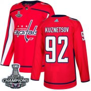 Wholesale Cheap Adidas Capitals #92 Evgeny Kuznetsov Red Home Authentic Stanley Cup Final Champions Stitched Youth NHL Jersey